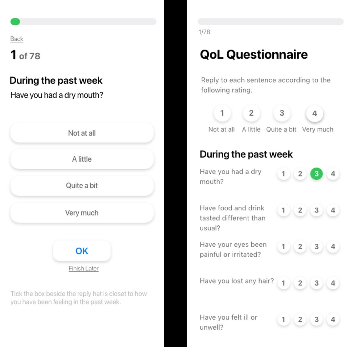 User Experience design of the FAITH App: low-fidelity mock-ups